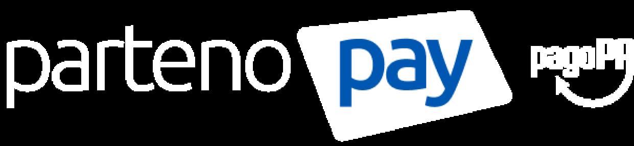 Logo PartenoPay e PagoPa Bianco
